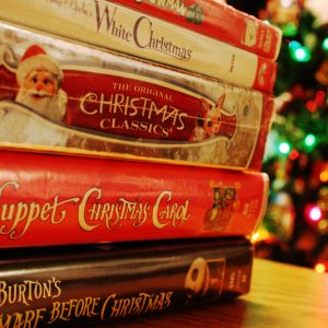 A pile of christmas DVDs