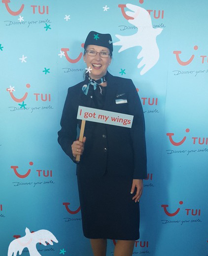 Tracy flying with TUI